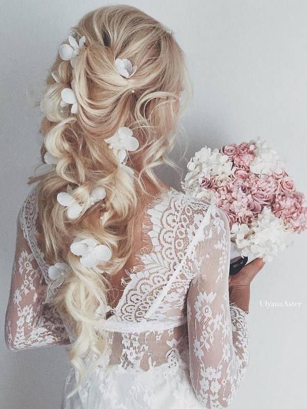 Ulyana Aster Long Wedding Hairstyles & Wedding Updos / www.deerpearlflow...