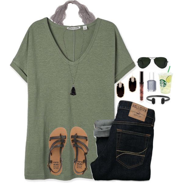 it's 12am by jazmintorres1 on Polyvore featuring Billabong, Kendra Scott, La...