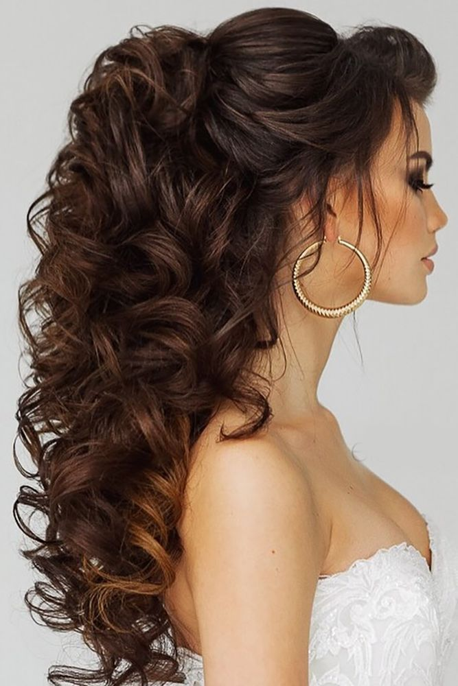 18 Trendy Swept-Back Wedding Hairstyles ❤ See more: www.weddingforwar... #wedd...