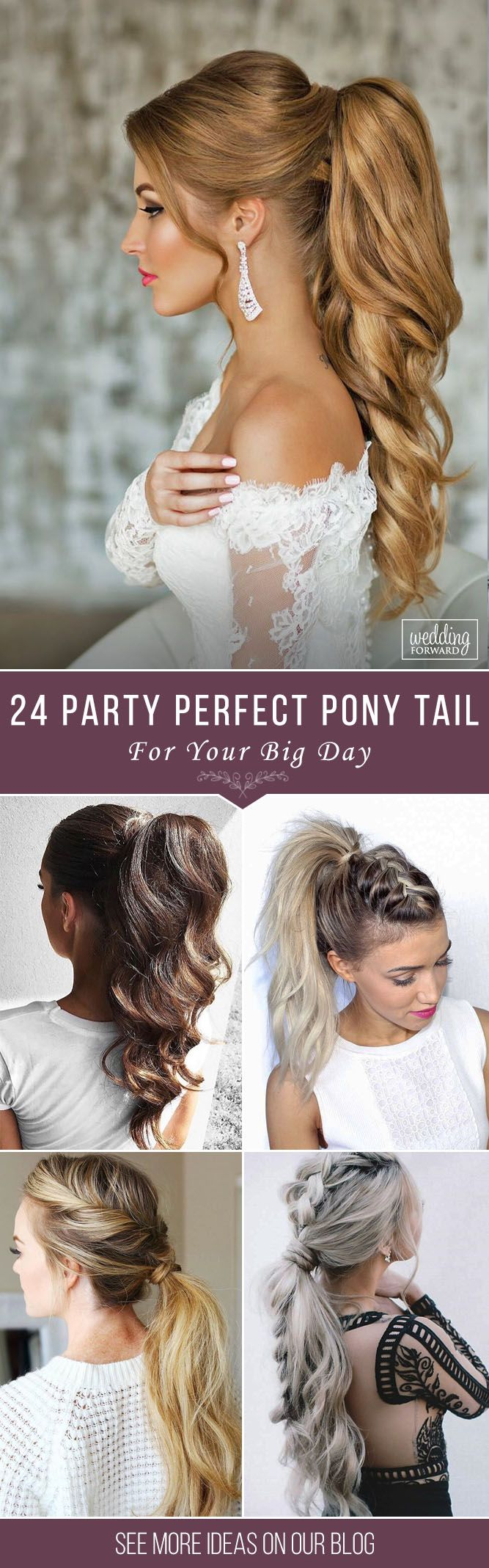 24 Party Perfect Pony Tail Hairstyles For Your Big Day ❤ Pony tail hairstyles ...