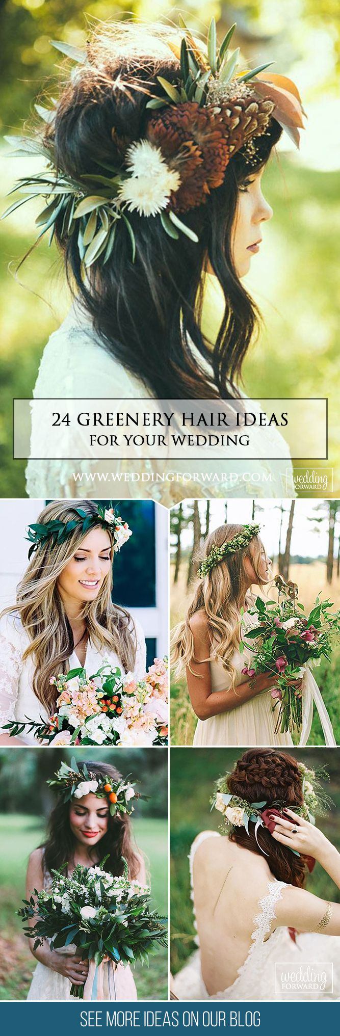 24 Stunning Greenery Wedding Hair Ideas ❤Don't waste your time on searching ...
