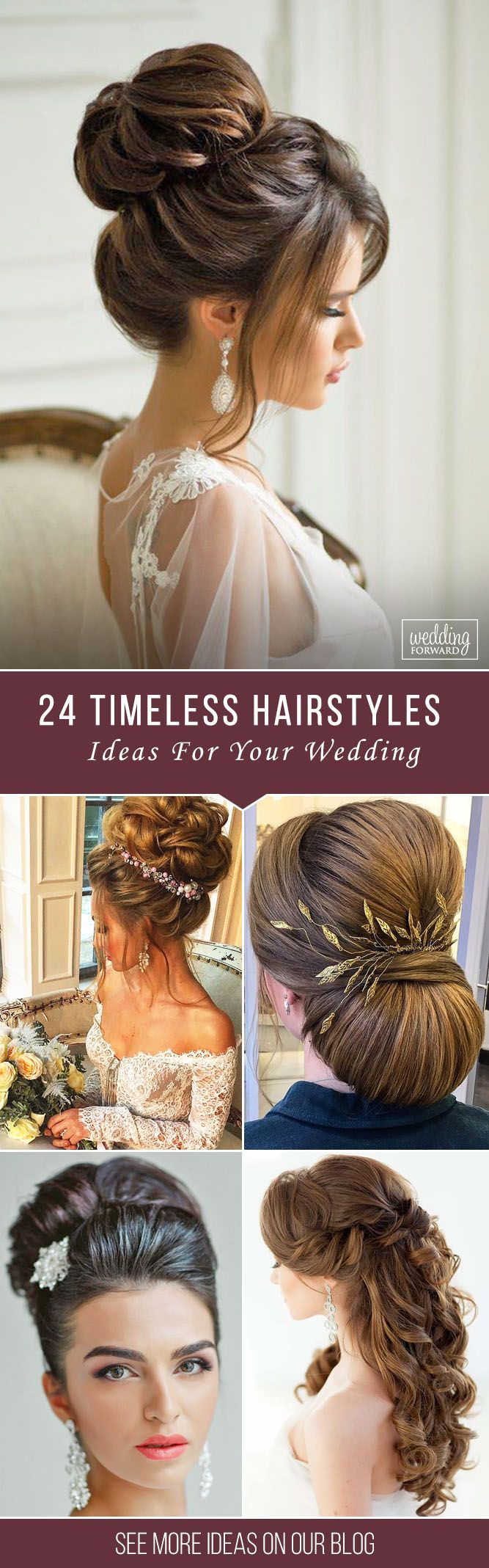 24 Timeless Bridal Hairstyles ❤ If you're still looking for a great hairstyl...