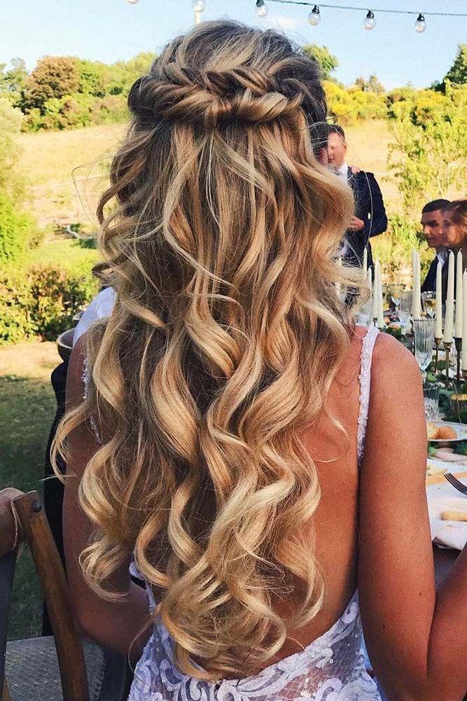 Wedding Hairstyles 20 Half Up Half Down Wedding Hairstyles Roses