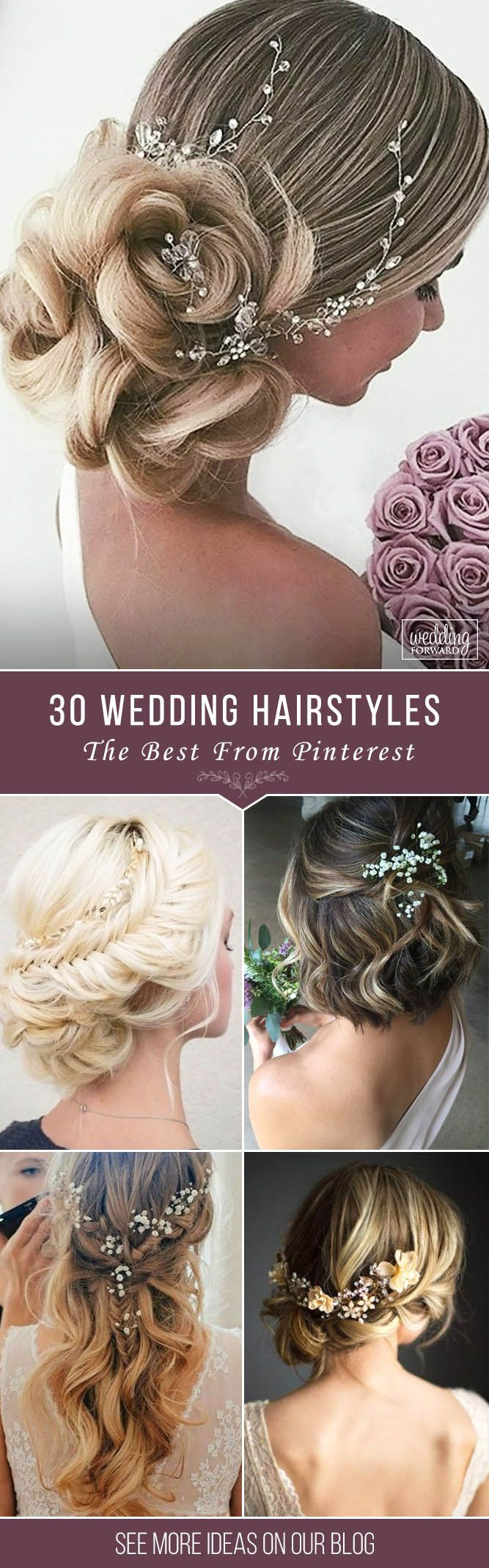 30 Pinterest Wedding Hairstyles For Your Unforgettable Wedding  ❤ If you are i...