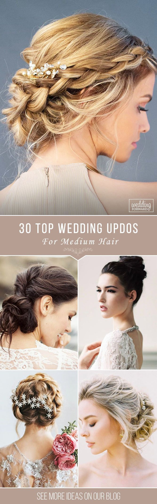30 Top Wedding Updos For Medium Hair ❤️ Wedding updos for medium hair will b...