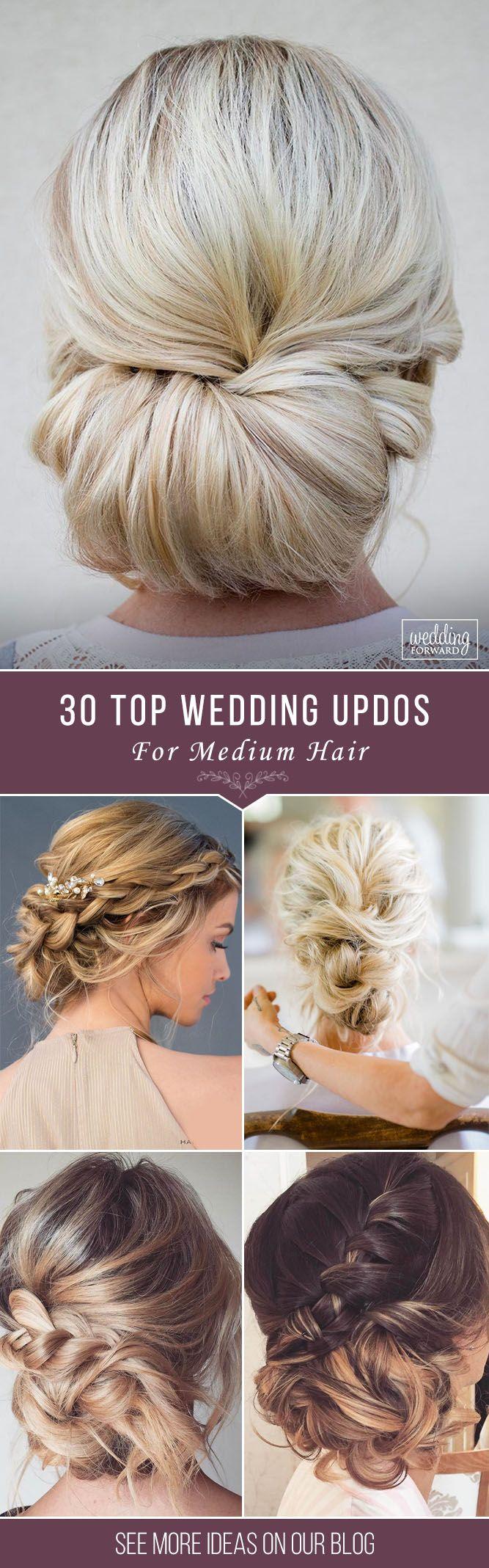 30 Top Wedding Updos For Medium Hair ❤ Wedding updos for medium hair will be o...