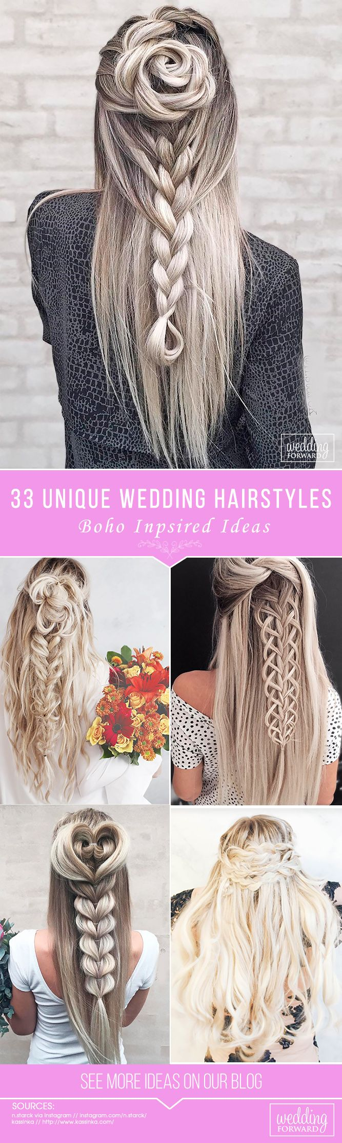 33 Creative & Unique Wedding Hairstyles ❤ From creative hairstyles with romant...
