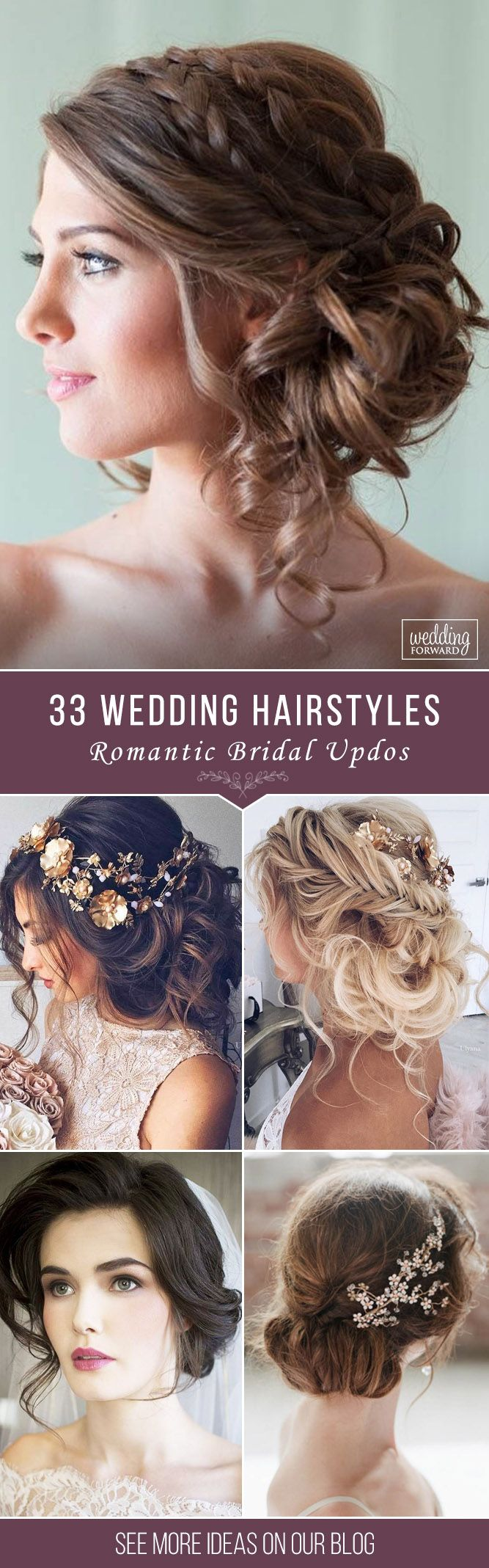 33 Wedding Hairstyles - Romantic Bridal Updos ❤ From high-volume braids to sof...