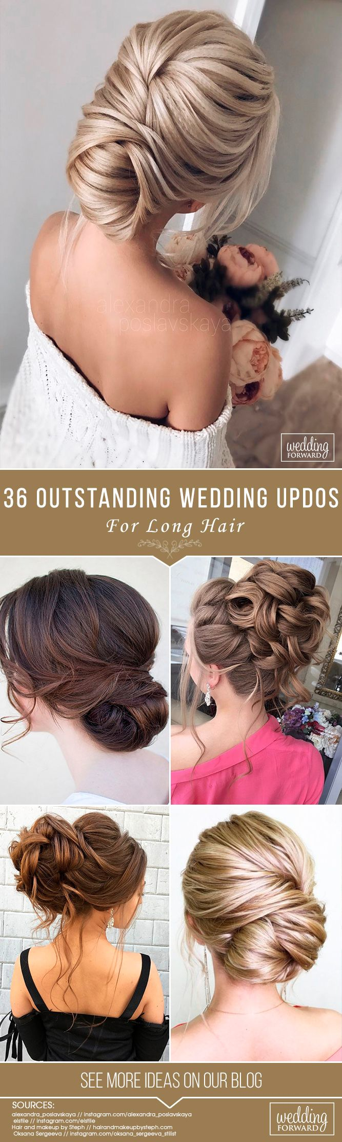 36 Most Outstanding Wedding Updos For Long Hair ❤ We have collected the most o...