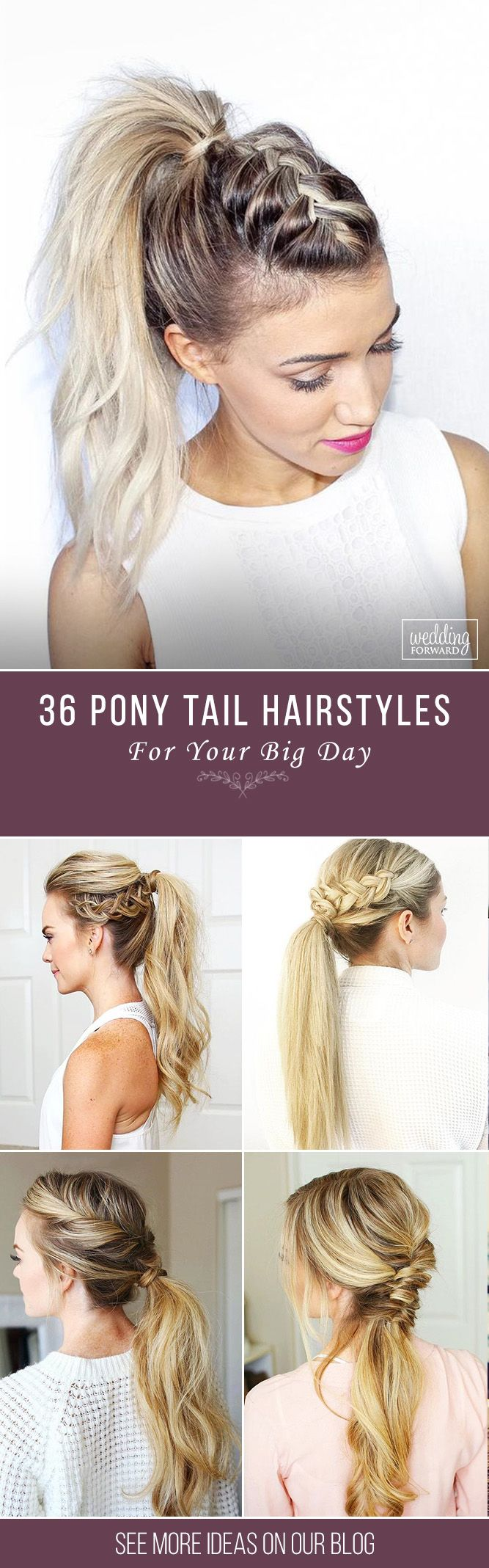 36 Party Perfect Pony Tail Hairstyles For Your Big Day ❤Pony tail hairstyles a...