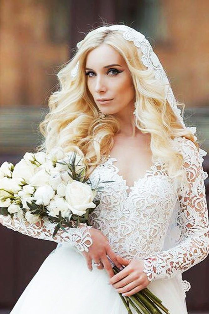 36 Wedding Hairstyles With Veil ❤ wedding hairstyles with veil simple curly ly...