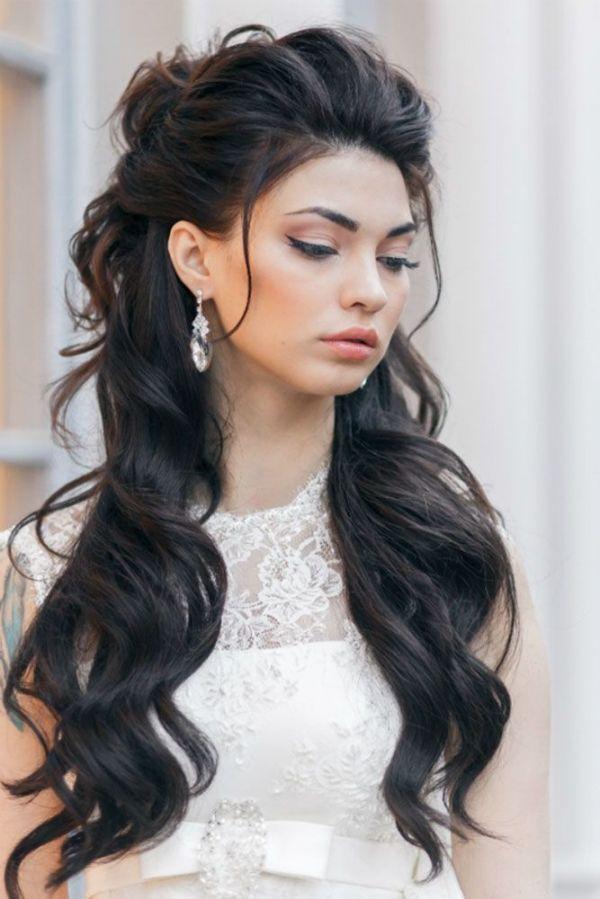 beautiful wedding half updo hairstyles