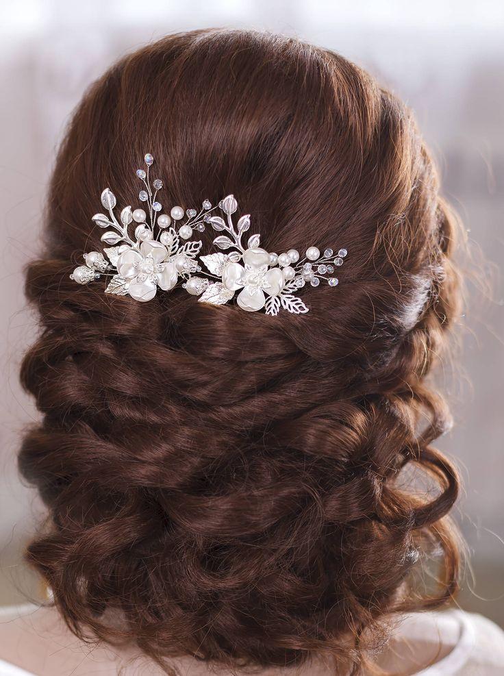 Bridal hair pins Wedding hair pins Flower hair pins by TopGracia