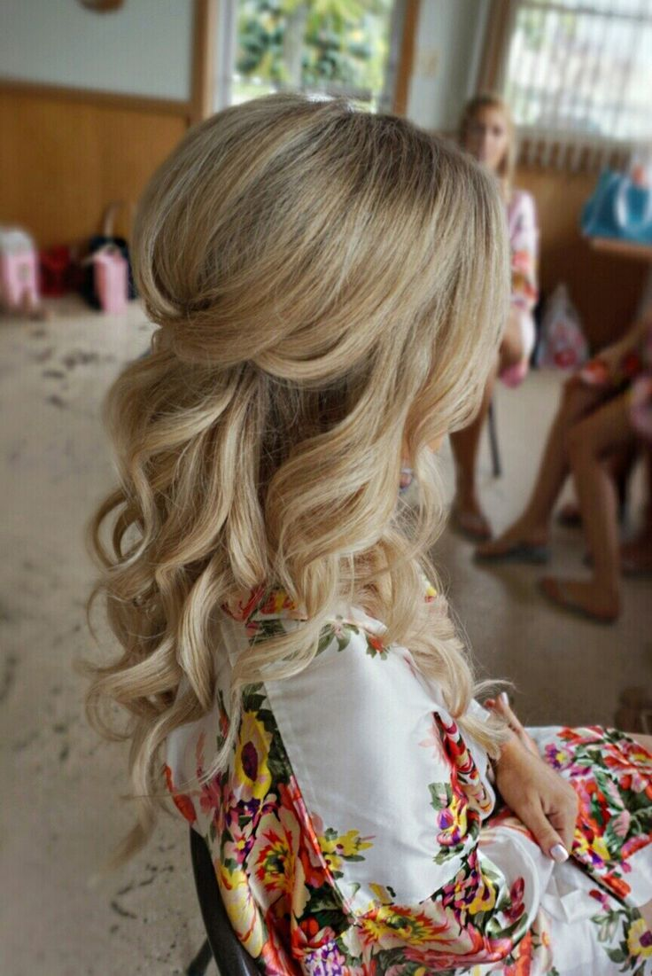 Half up half down curl hairstyles - partial updo wedding hairstyles,partial updo...