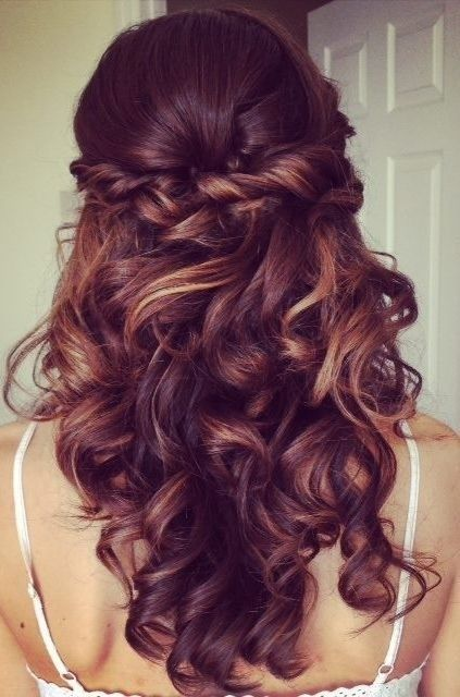Half Up Half Down Hairstyle for Curly Hair - Prom Long Hairstyles 2015 by jessie