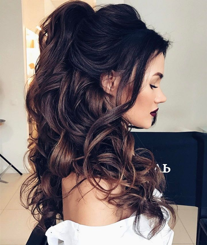 Half up half down hairstyles - partial updo wedding hairstyle is a great options...