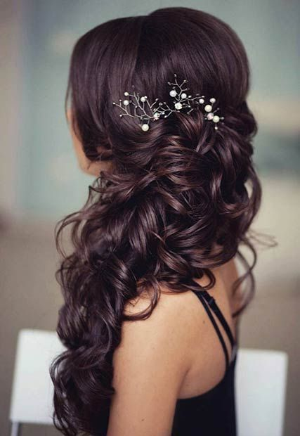 Having my hair down for my wedding is an absolute obvious decision. I really lik...