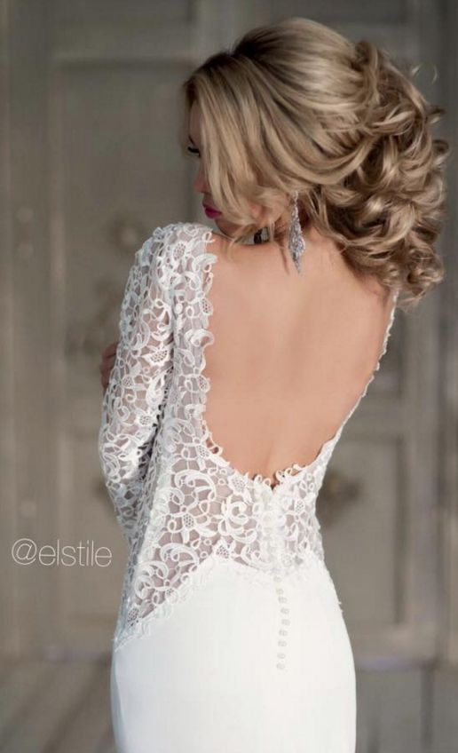 Wedding dress and hairstyle idea via Elstile / www.himisspuff.co...