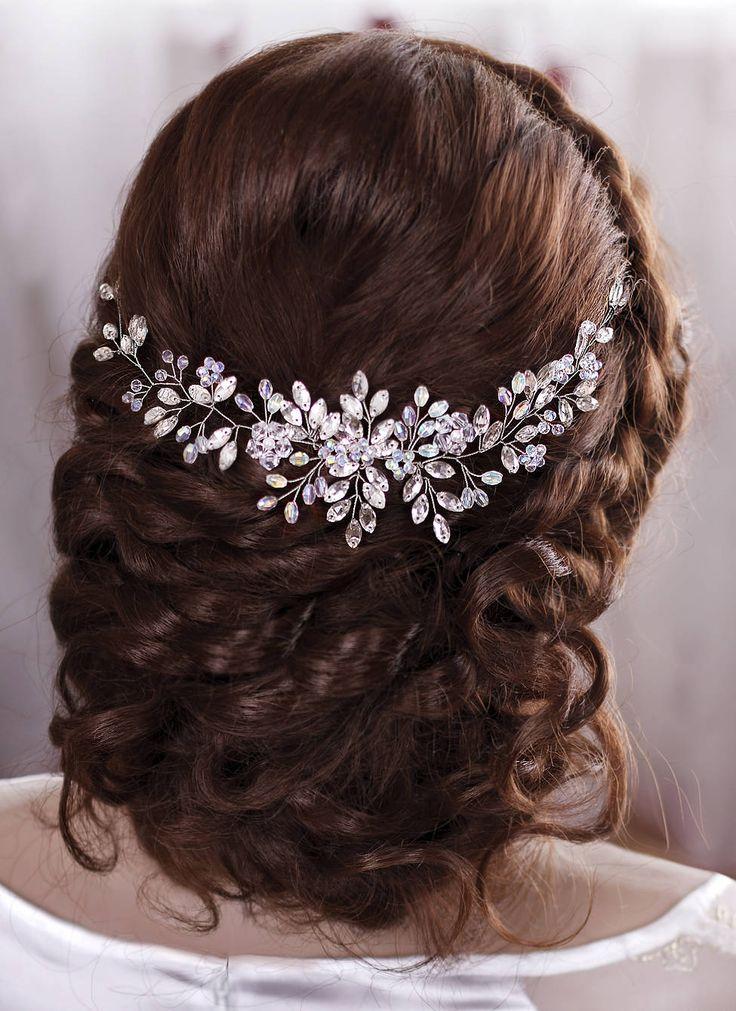 Wedding hair accessories Bridal hair piece Wedding headband Crystal hairpiece by...