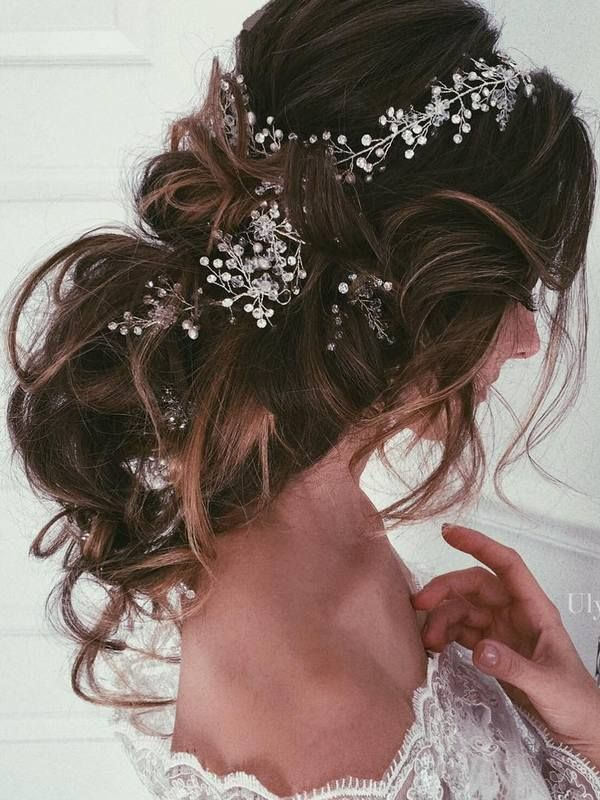 Ulyana Aster Long Wedding Hairstyles & Updos 10 | Deer Pearl Flowers