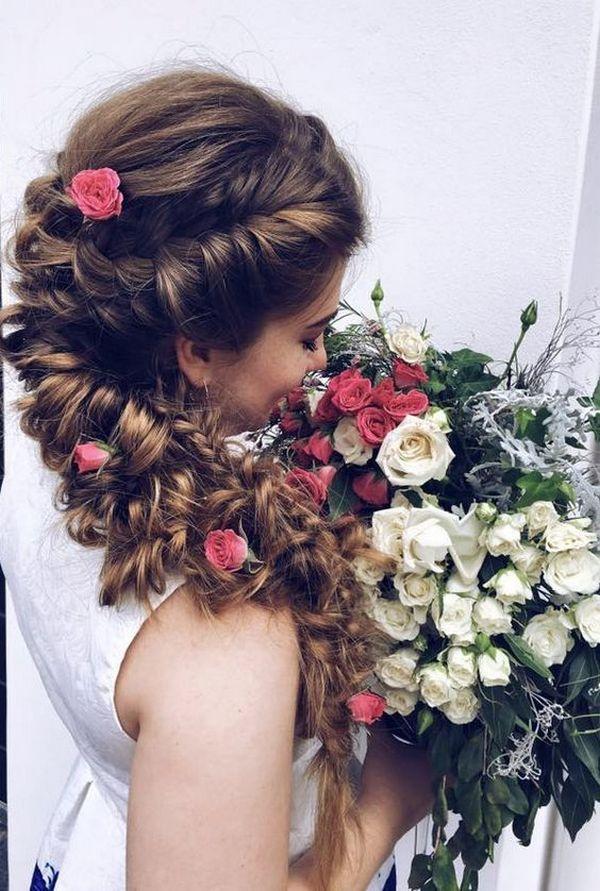 Ulyana Aster Long Wedding Hairstyles & Updos 14 | Deer Pearl Flowers
