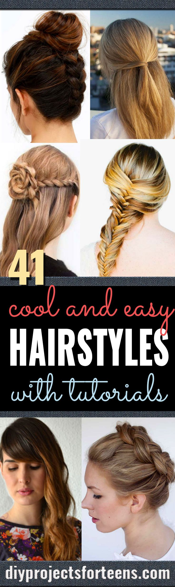 Cool and Easy DIY Hairstyles - Quick and Easy Ideas for Back to School Styles fo...
