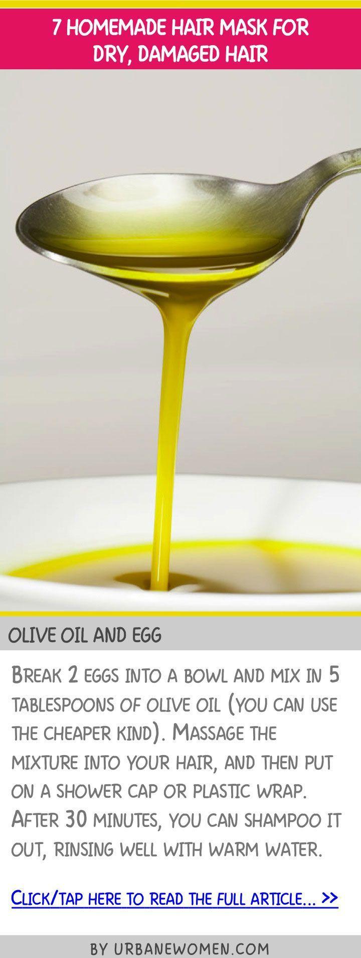 7 homemade hair mask for dry, damaged hair - Olive oil and egg