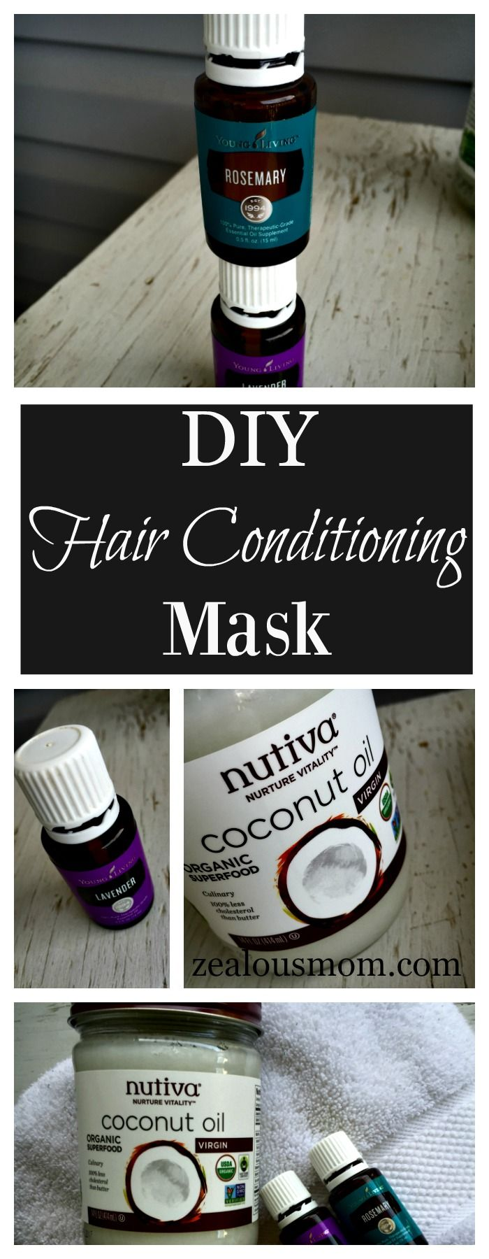 An amazing DIY hair conditioning mask that combines the nourishment of coconut o...