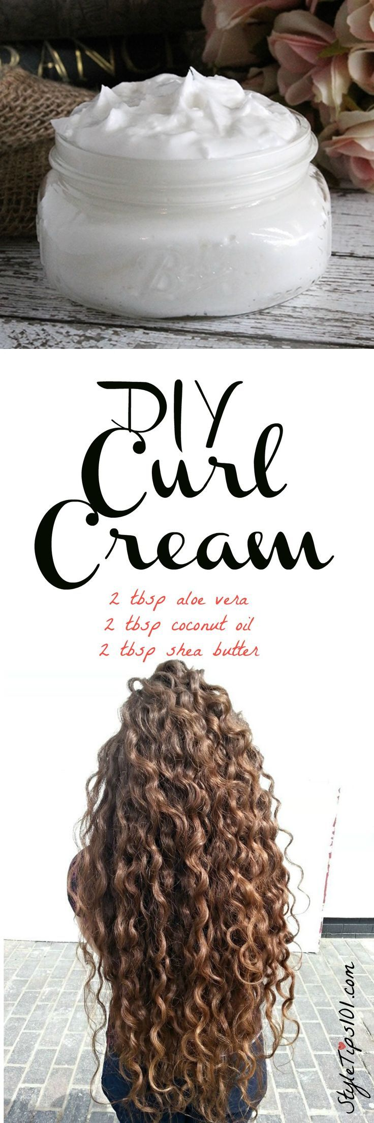 DIY Curl Cream - Tap the link to check out some products that you've probabl...