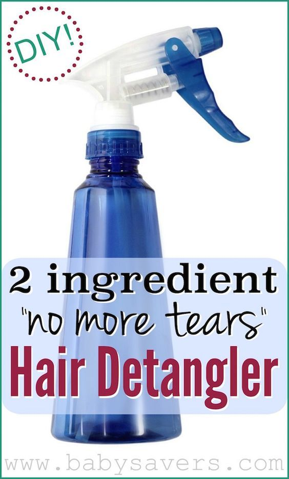 DIY homemade hair detangler. Gentle enough babies, but I use it on my own hair a...
