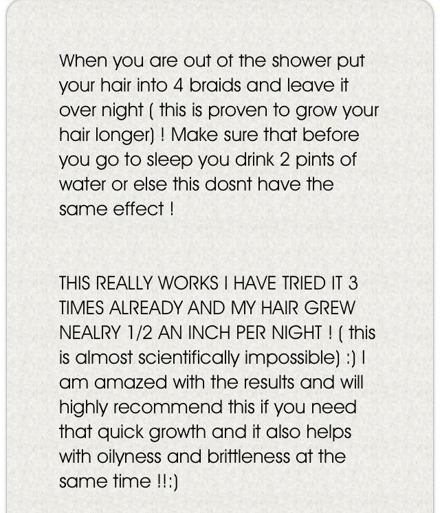 How To Grow Your Hair OVERNIGHT! :)Tap picture to inlargen themHope this tip was...