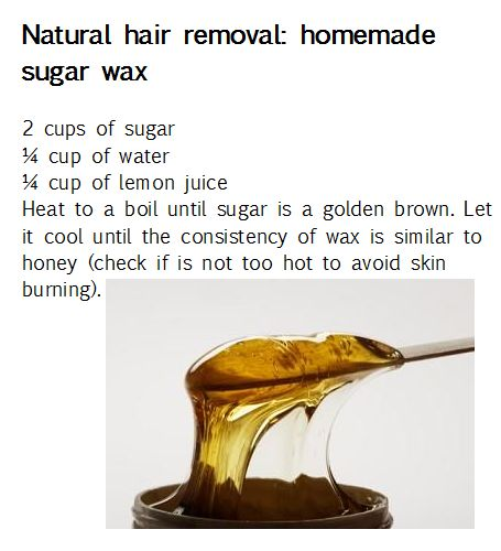 Hair care Ideas : NATURAL HAIR REMOVAL