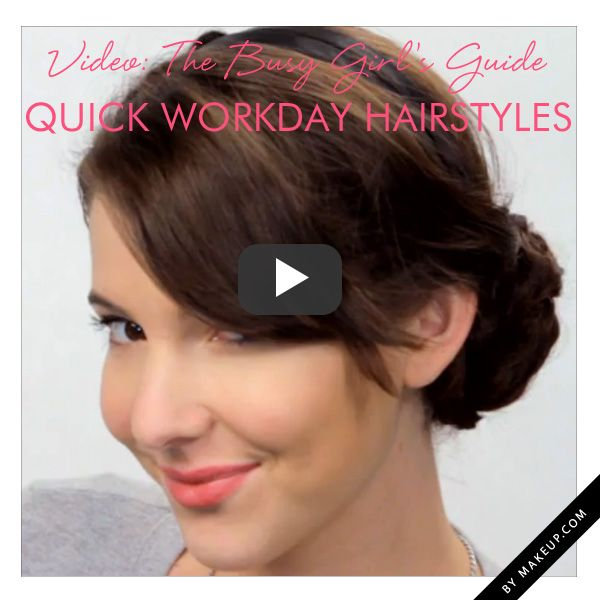 2 easy work hairstyles // click pin to watch video tutorial!