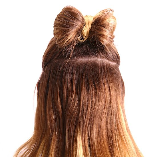 A holiday hair bow in 2 min flat