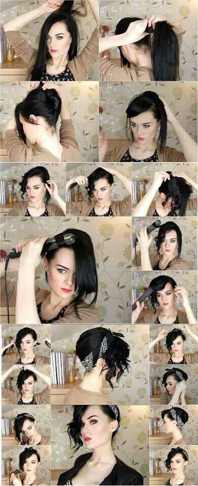 Bandana Hair Tutorial                                                           ...