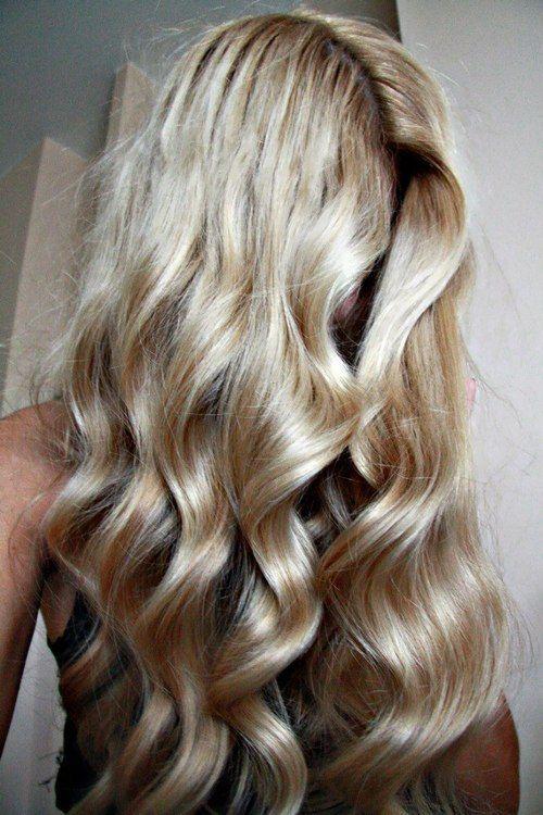 beautiful blonde waves #hair