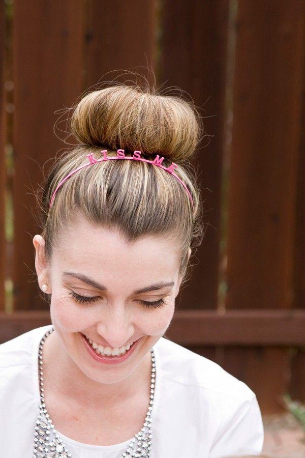 big bun and a kiss me headband // #hair