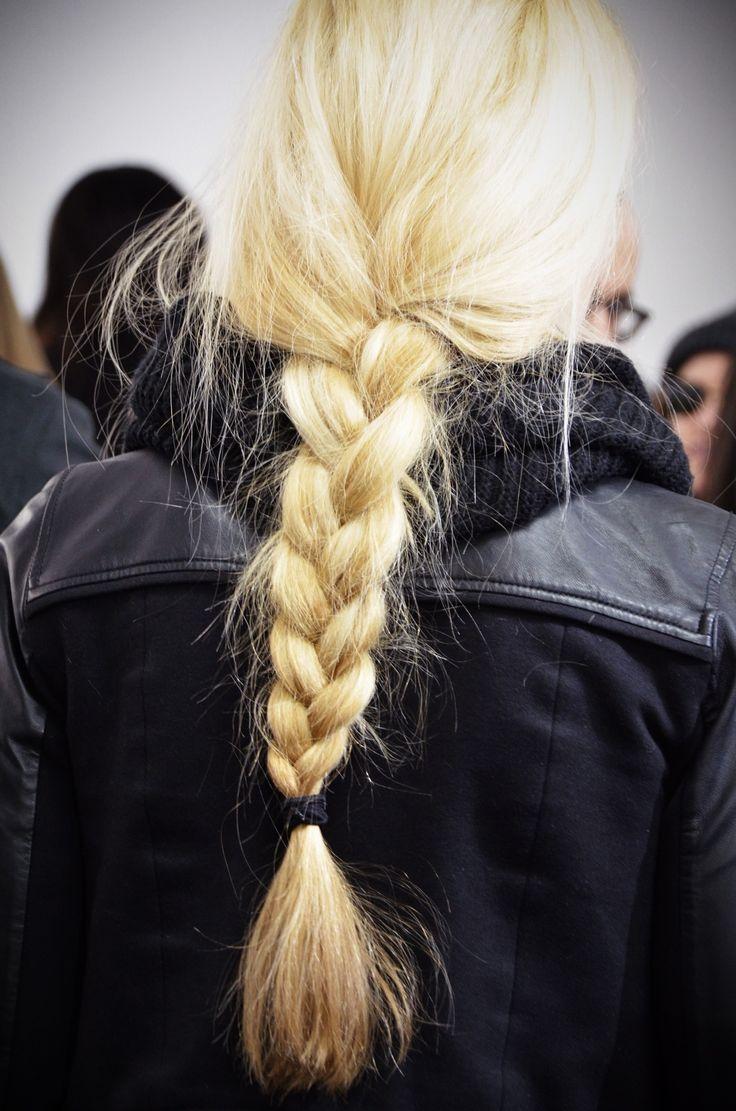 blonde braid ambition