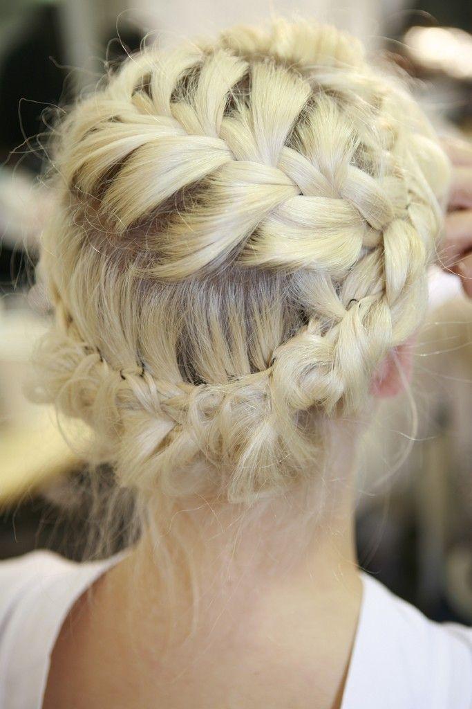 blonde halo braid perfection