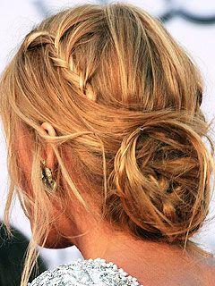 braided messy bun