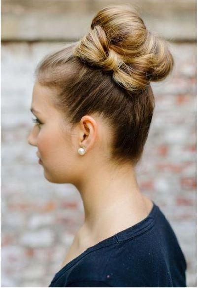 bun + hair bow
