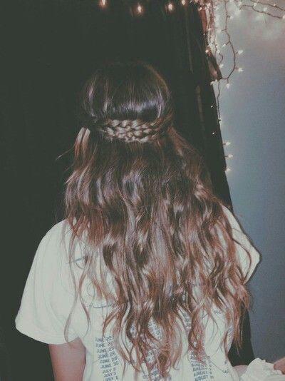 Easy braid/waves hair style // #hair #style