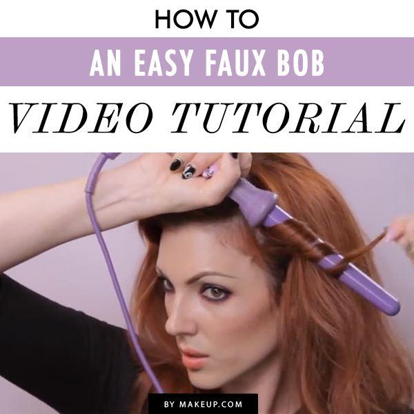 easy faux bob video tutorial #hair