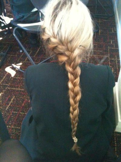Fabulous french braid! // #hair