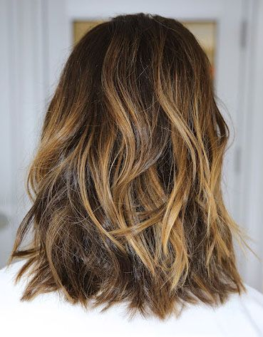 gorgeous caramel highlights // #hair