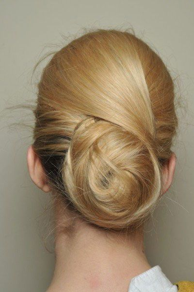 gorgeous low bun