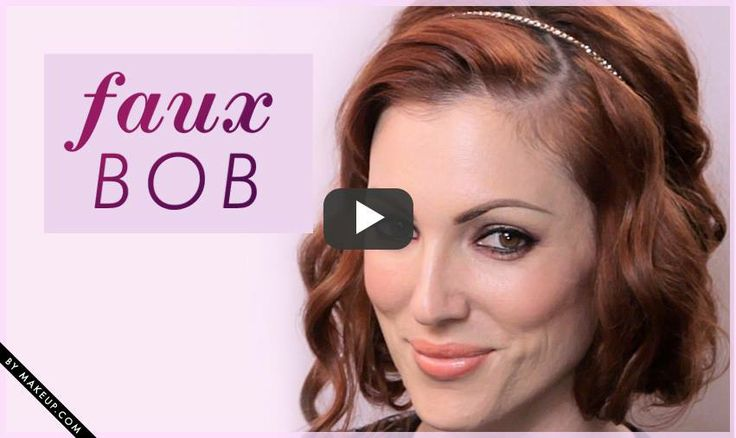 how to: faux bob video tutorial // click pin to watch tutorial