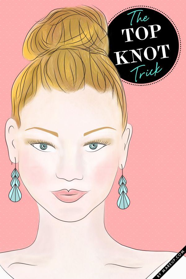 how to style the perfect top knot // a must-know trick!