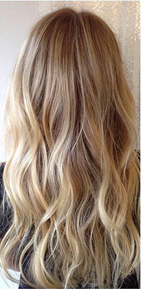 long blond waves