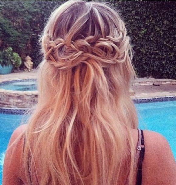 Messy braided crown